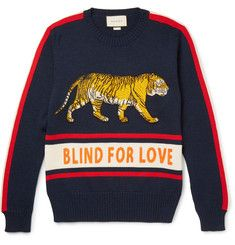 Gucci - Appliquéd Embroidered Wool Sweater