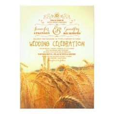 Rustic Wheat Wedding Invitation  #rusticweddinginvitations #rusticweddinginspiration  #wheatweddinginvitation