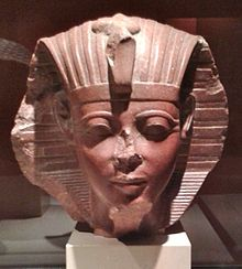 Sphinx head of a young Amenhotep II, Musée du Louvre.
