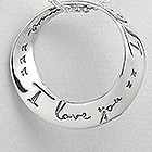 925 Sterling Silver Round I Love you xx I Love you more xxx Slide Pendant Mobius $29.95