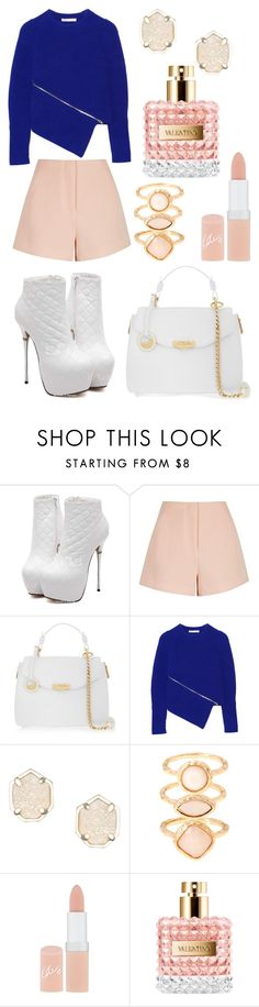 """""""blue/pink/white perfect outfit 2015"""" by diamondanna ❤ liked on Polyvore featuring Finders Keepers, Versace, Alexander Wang, Kendra Scott, Monsoon and Rimmel"""
