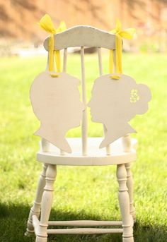 Bride and Groom Chair Hangers