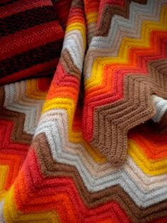 I love orange and brown quilts