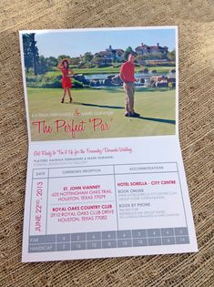Golf Themed Save the Date