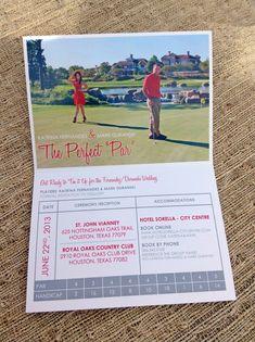 Marisa Montano Golf Theme Wedding Invitations Teerific Couple