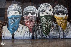 London, England - The Beatles - Arte Callejero / Street Art