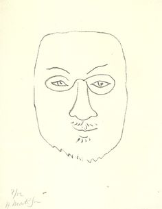 the masterful Henri Matisse shows us again how 'less is more' with this 1945 selfie.