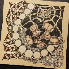 Zentangle 121415-2. #zentangle #zendoodle #doodle #doodleart #drawing #art…