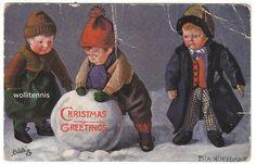 kathe kruse postcard..christmas greetings