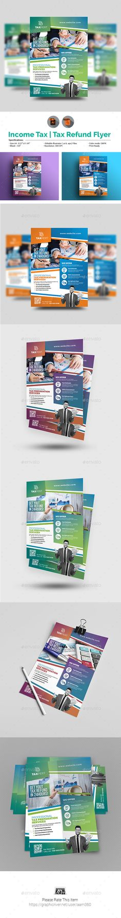 #Income Tax Flyer Template - #Corporate #Flyers