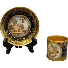 Late 18th Century Cabinet Cup and Saucer