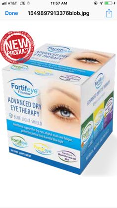 The newest and most advanced dry eye supplement available. Fortifeye advanced dry eye therapy! This does much more than help dry eyes. It also improves macular pigment density and filters out the harmful blue light, decreases eye fatigue and improves focusing ability, amazing for the skin and joints too! Learn more at www.fortifeye.com Dry Eye Treatment, Natural Treatments, Eye Supplements, Dr World, Light Shield, Skin Nutrition, Eye Vitamins, Degenerative Disease, Light Eyes