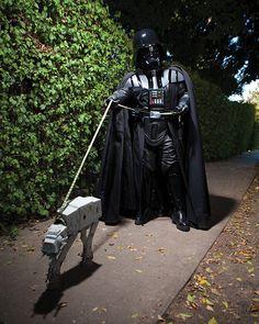Darth Vader walks his AT-AT. Kevin Knight Photography.