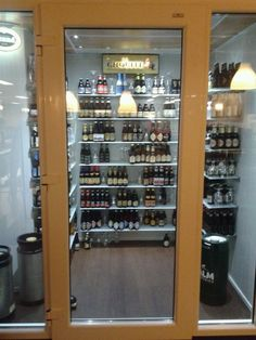 Walk-in Fridge at De Vluchte, Enschede, Netherlands.... Walk in beer fridge as promised if I get a walk in closet :)