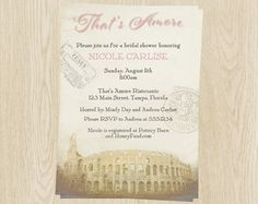 italy theme bridal shower invitations wedding by theinviteladyshop
