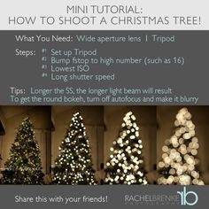 How to shoot Christmas tree lights.
