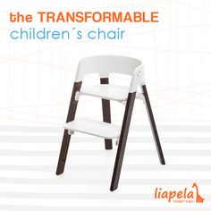 The Stokke Steps Chair is a transformable chair that will grow with your baby. Like on Instagram @LiapelaModernBaby