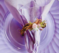Un servilletero rústico para una fiesta hadas, una fiesta vintage... / A lovely napkin ring for a rustic party, a fairy party, a vintage party...