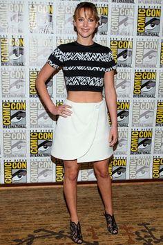 Jennifer Lawrence con un crop top ¡de envidia!