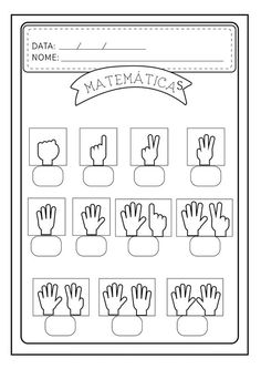 good math worksheet to remake in English // writing numbers based on fingers Math Literacy, Kindergarten Worksheets, Worksheets For Kids, Learning Activities, Preschool Activities, Math For Kids, Toddler Learning, Kids Education, Kids And Parenting