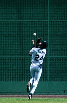 ken griffey jr catching in the outfield Mariners Baseball, Sports Baseball, Seattle Mariners, Seahawks Football, Seattle Seahawks, Famous Baseball Players, Mlb Players, Sports Images, Sports Pictures