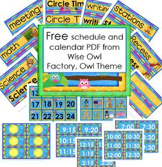 Roundup of Free Owl Theme Classroom Freebies by Carolyn from Wise Owl Factory at PreK + K Sharing