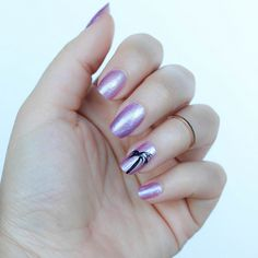 Simple Palm Tree Nail Art Julep Nail Polish In Regina Purple