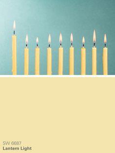 Sherwin-Williams yellow paint color – Lantern Light (SW 6687)