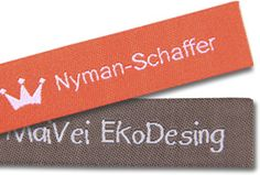 Our standard woven label that you sew on.     Check it out on our webpage!    http://www.minanamnband.se/vavda-namnband