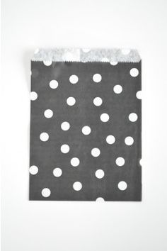 black spotty paper bags