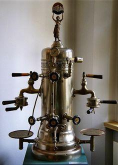 Old style espresso machine