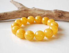 Egg-Yolk Genuine Baltic Amber Bracelet Butterscotch Amber