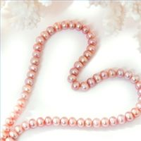 "Pink pearls/ white pearls - Temporary heart for a forever gift. Suitable for all - first pearls, first ""16"", etc. Keepsakes can be worn!"