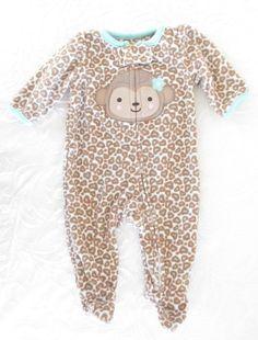 Carter's Child Of Mine, Newborn Baby Girl Leopard Print Monkey Sleeper, 1 Piece #Carters #Everyday