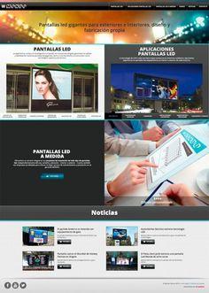 Las pantallas LED de Mondo requerían de un diseño web visual, sencillo y que diese protagonismo al producto.