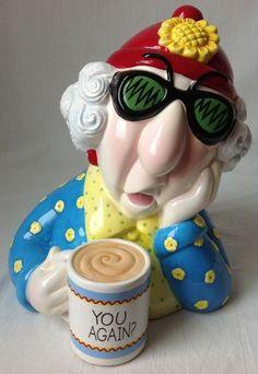Hallmark Maxine You Again Cookie Jar J Wagner Old Lady with Attitude Coffee Mug