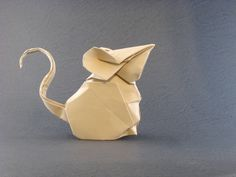 Origami Mouse by Hoang Tien Quyet folded by Gilad Aharoni