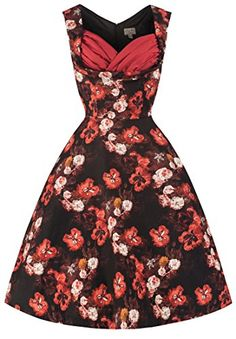 Lindy Bop 'Ophelia' Vintage 50's Inspired Wild Flower Print Swing Dress (XS, Red) Lindy Bop http://www.amazon.com/dp/B00PQU4G90/ref=cm_sw_r_pi_dp_AY2svb1SQGGCW