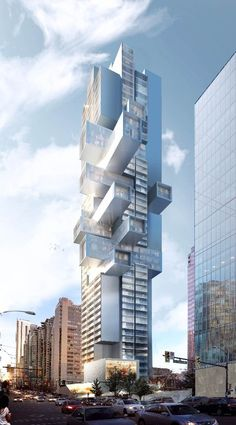 Büro Ole Scheeren envisions stacked box high-rise for Vancouver