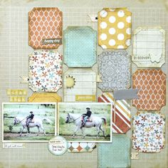 {Use up Project Life cards; showcase several patterns from one paper collection / SBO}