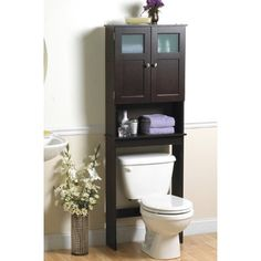 """Zenith Products 23.25"""" x 66.5"""" Over the Toilet Cabinet II"""