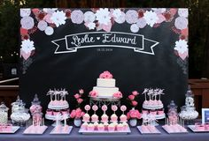 Chalkboard Wedding Backdrop 4ftx6ft DIGITAL by SweetandClever