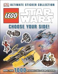 Star Wars Choose Your Side Sticker Collection Book - DK Publishing - Star Wars - Books at Entertainment Earth Lego Do Star Wars, Star Wars Stickers, Dk Publishing, Star Wars Books, Lego War, Star Wars Minifigures, Used Books, Legos, Stars