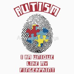 'No 2 Autistic People Are Alike!' Kids Clothes by Autism Odysseys Autistic People, Autism Sensory, Apraxia, Sensory Processing Disorder, Autism Awareness, Store, Kids, Clothes, Young Children