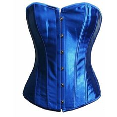 BSLINGERIE Womens Halloween Snow White Bustier Corset Top ($18) ❤ liked on Polyvore featuring tops, corsette tops, corset tops, blue bustier, corset bustier and bustier corset
