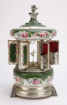 Musical Carousel Cigarette Box