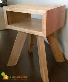 Reclaimed Messmate bedside table