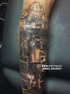 New tatoo from Barcelona attacker Neymar Soccer Tattoos, Football Tattoo, Boy Tattoos, Tattoos For Guys, Sleeve Tattoos, Tatoos, Neymar Jr Tattoos, Erinnern Tattoo, Tattoo Arm Mann