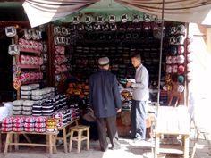 Uighur Hat Stand in Kashgar