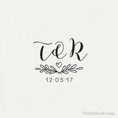 Wedding Branding, Wedding Logos, Monogram Wedding, Personalized Wedding, Wedding Invitations, Initials Logo, Monogram Logo, Self Promo, May Weddings